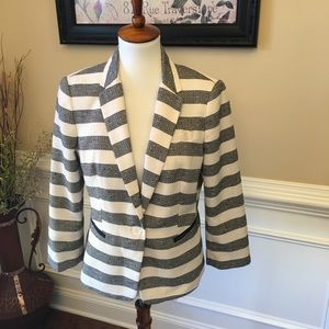 The Limited Striped Blazer Sz M